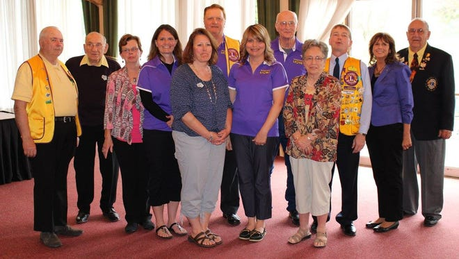 The Mishicot Lions Club celebrated its 70th anniversary at the end of April. Pictured are members who attended the banquet at Fox Hills Resort.