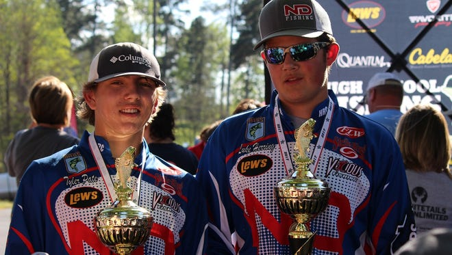 North DeSoto anglers Tyler Pate and Luke Herring won the Louisiana state fishing title Saturday on Cross Lake.