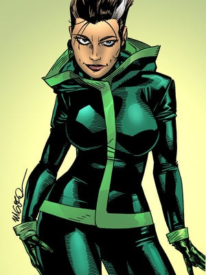 The character Rogue as conceived by its original artist, Michael Golden.