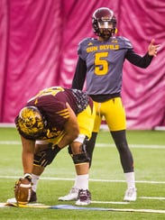 Manny Wilkins will be battling for the starting quarterback