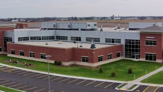 An aerial view of the new Ripon Medical Center facility.