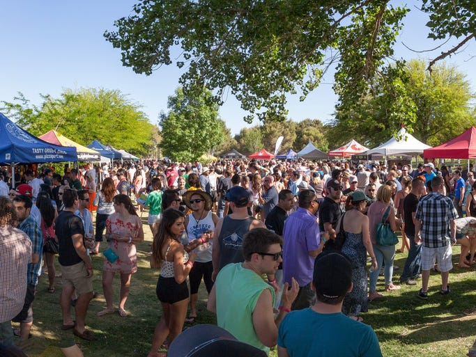 The third annual Downtown Brew Festival feels more like a block party under the stars at the Clark County Amphitheater.