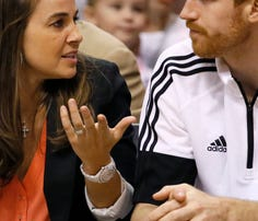 San Antonio Spurs assistant coach Becky Hammon of Rapid City will coach the Spurs' summer league team, becoming the first woman to be a head coach at any level of the men's pro game.
