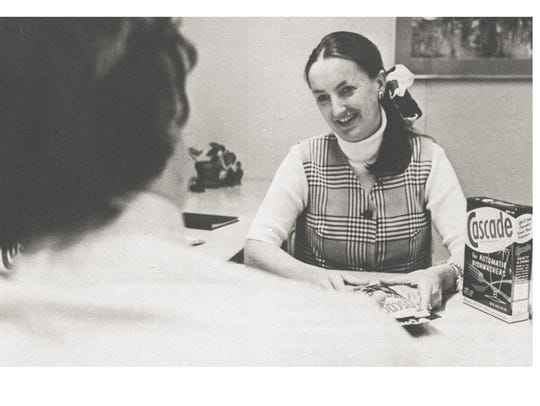 Peg Wyant at P&G in 1973.