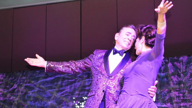Palm Springs Mayor Rob Moon and his dance partner, Saturday, during Dancing with the Desert Stars.