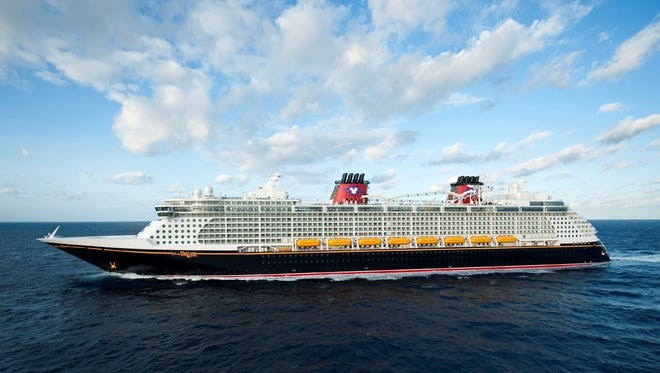 Disney Cruise Line's Disney Dream sails out of Port Canaveral, Fla.