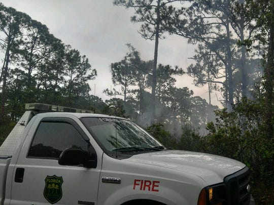 Two small brush fires are creating smoky conditions Wednesday in northern St. Lucie County.