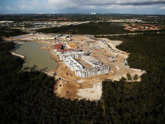 Miromar Development's University Village is under construction