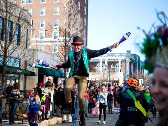 Asheville's Mardi Gras parade is Feb. 11.