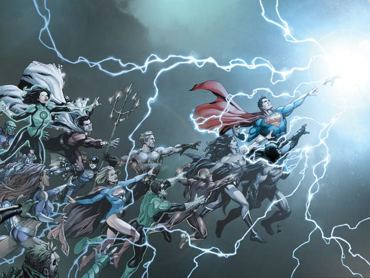 "The 80-page ""DC Universe: Rebirth"" special begins a"
