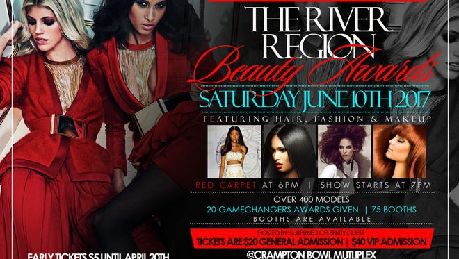 The River Region Beauty Awards are Saturday at the Multiplex at Cramton Bowl in Mongomery.