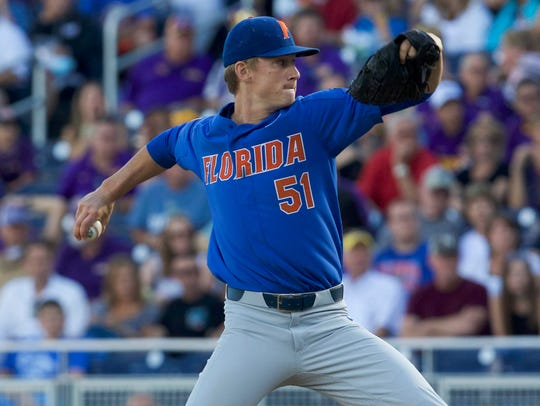 Florida Gators pitcher Brady Singer.
