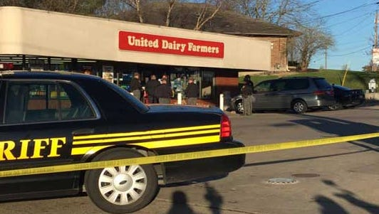An off-duty Hamilton County sheriff's deputy stopped a robbery attempt in Cheviot early Wednesday.