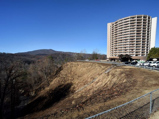 The Park Vista Hotel in downtown Gatlinburg on Friday, Dec. 2, 2016, after residents were allowed back in after the devastating fires of the preceding Monday night.
