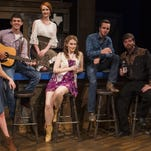 """Hannah Smith, Luke Smith, Sara Tolson, DeAna Earl, Levi Orr, Christopher Rose, and Seth Crawford rehearse the musical """"Swingin' Country"""" for their premiere performance on July 16 at Centre Stage in Greenville."""