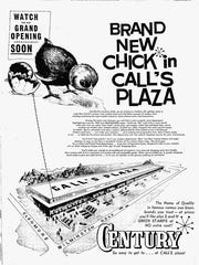 Mark sold the grocery store and then retired to Florida in 1955. The new owners rebranded the supermarket but kept the family name for the plaza.