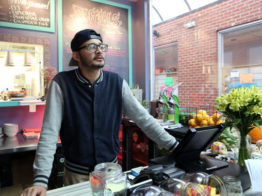 Marlin Rivera, manager at Halstead Ave Taqueria talks about the new gun shop that will be opening.