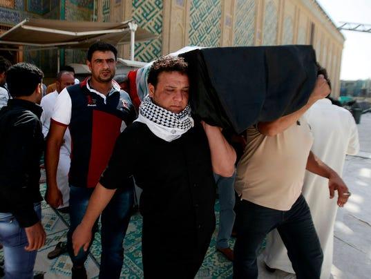 iraq bombing funeral