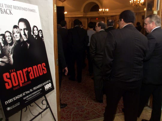 Archive photo of the 2000 Sopranos gala. Guests enter the screening at the Sopranos gala party at the Pleasantdale Chateau.