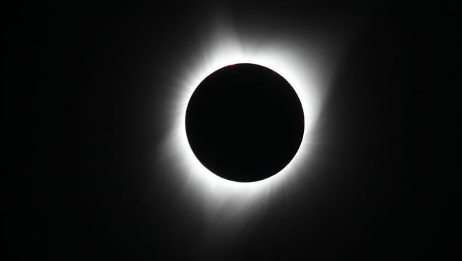 A full solar eclipse is seen from Keizer on August 21, 2017.