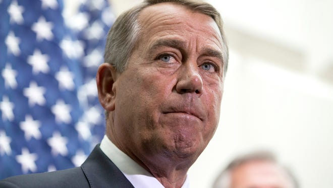 House Speaker John Boehner, R-Ohio, says (AP Photo/ Evan Vucci)