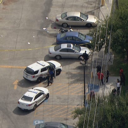 Police investigate a shooting at Texas Southern University