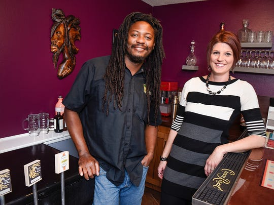 Desi and Lori Hall talk about their new store The Hop Shop Thursday, Oct. 6, at their home in St. Cloud. They will be opening a homebrew and wine making supply store in Midtown Square Mall.
