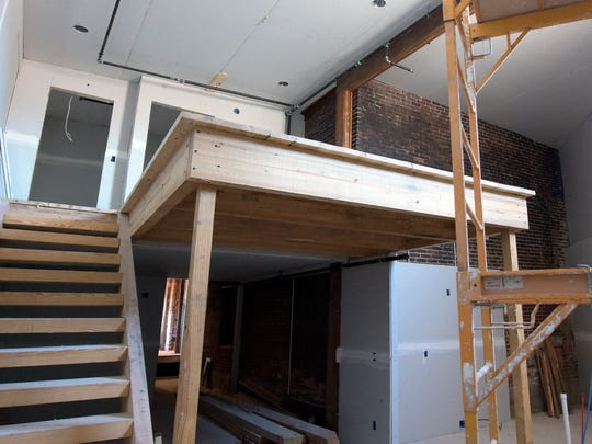 Thursday, Feb. 18, 2016--An unfinished loft apartment