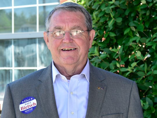 Walt Bietsch will be the lone Chambersburg mayoral candidate on the ballot, but faces a write-in contest by Democrat Eugene Rideout.