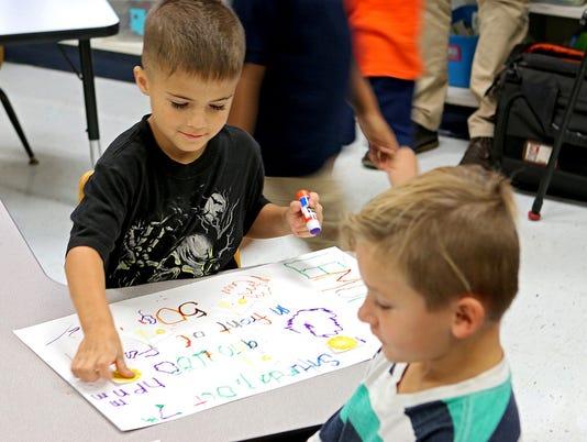 Fain kindergartners turn lemons into learning