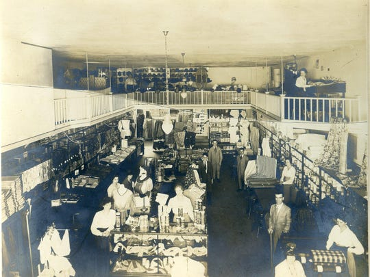 The interior of the Kafoury Brothers Store circa 1920.