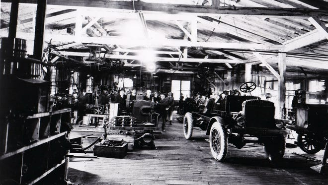 A look inside Oshkosh Corp.'s first factory in Oshkosh. The company was founded in 1917 and began by building off-road vehicles.