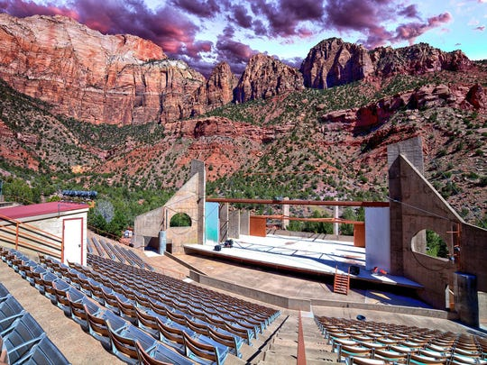 A look at the OC Tanner Amphitheater and the land behind it that Dixie StateUniversity partially owns.