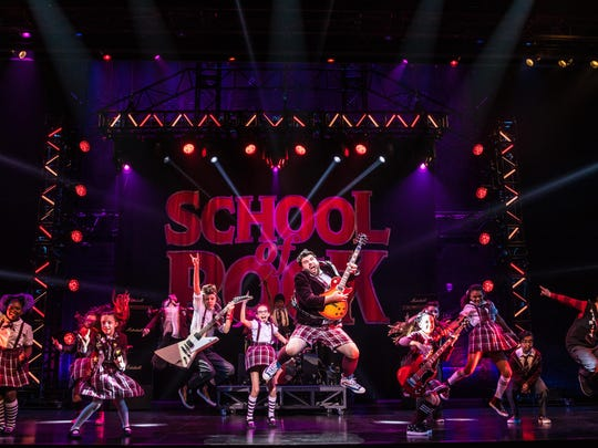 "The cast of ""School of Rock,"" which opens Tuesday,"