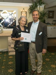 Diana Hacmuth, left, celebrates 34 years volunteering