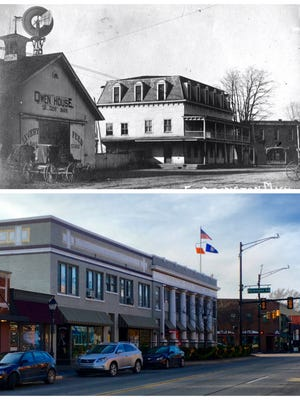 In the early 1900s, the Owen House Hotel stood at the site of The Village Mall, at the southeast corner of Grand River and Farmington Road. Rates were $1.50 per day, with a special Sunday dinner for 25 cents. More at preservationfarmington.org.