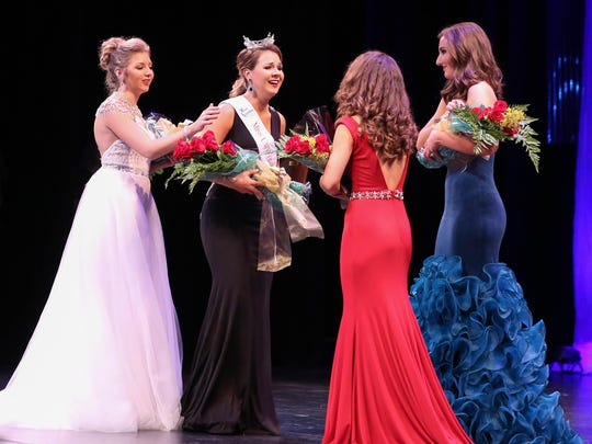 Kaelyn Wolfe wins Miss University of Southern Mississippi on Oct. 15, 2016.