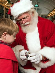Kids can meet Santa when they ride the Grand Canyon Railway's Polar Express.