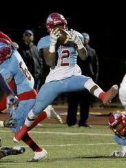 Hirschi's Stavonte Vaughn intercepts Stephenville quarterback