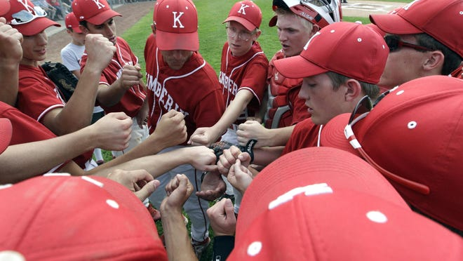 The Kimberly baseball team will play Kenosha Indian Trail in a state baseball tournament opener Tuesday morning.