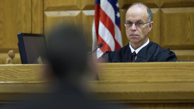 Judge John A. Des Jardins will speak on the justice system in Outagamie County.