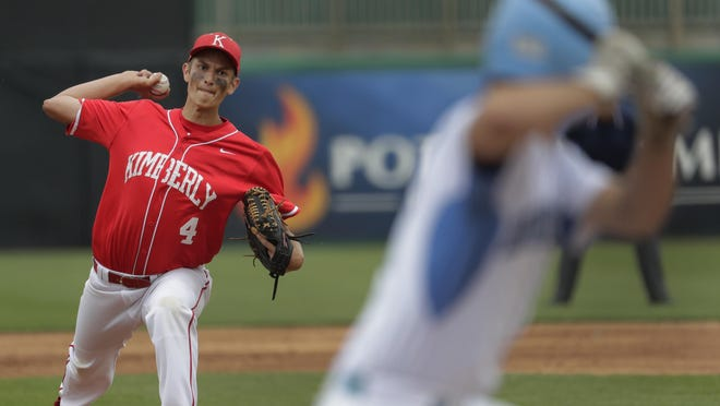 Tanner Haessly pitched a five-hit shutout for Kimberly against Eau Claire North in a Division 1 state quarterfinal baseball game Tuesday in Grand Chute. See more photos from the game at postcrescent.com.