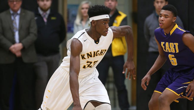 McQuaid's Isaiah Stewart (left), the 2015-16 Rochester City Athletic Conference Player of the Year, averaged 18.5 points and 12.4 rebounds last season. He also produced 3.1 blocked shots a game.
