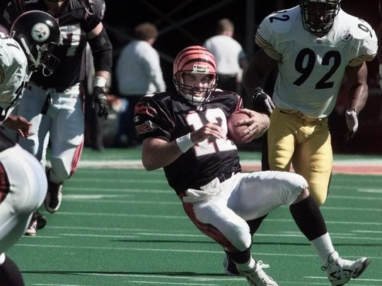 Oct. 11, 1998: Neil O'Donnell slides safely as he scrambled