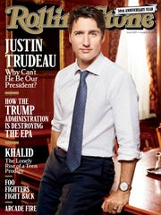 This image released by 'Rolling Stone' shows Canadian Prime Minister Justin Trudeau on the cover of the August 10 issue.