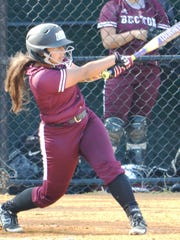 Junior infielder Raquel Chandra (.508 batting average) led the contingent on first team all-division for Becton.