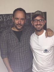Musician Dave Matthews poses for a photo with Cahawba House co-owner Tim Essary. Matthews had breakfast at the downtown Montgomery restaurant while in town for events associated with the Equal Justice Initiative's new memorial and museum.