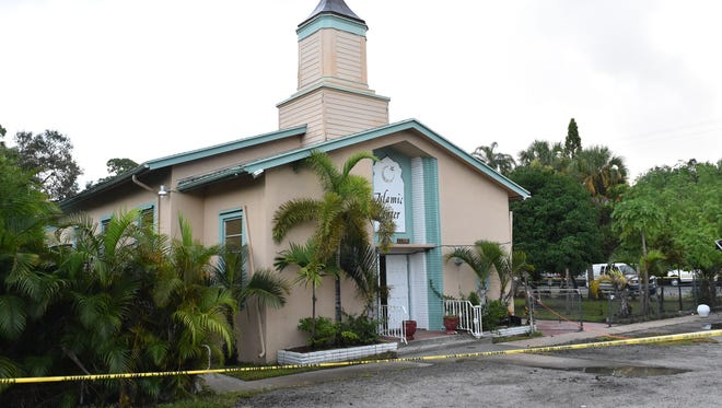 Images from the investigation of the fire at the Islamic Center of Fort Pierce on Midway Road on Monday, Sept. 12, 2016, in White City.