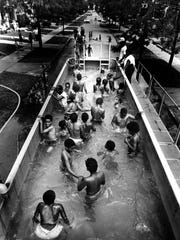 Detroit had a SwimMobile drive around in the summer of 1982. It was essentially a semi-trailer filled with water that could be relocated to any neighborhood.
