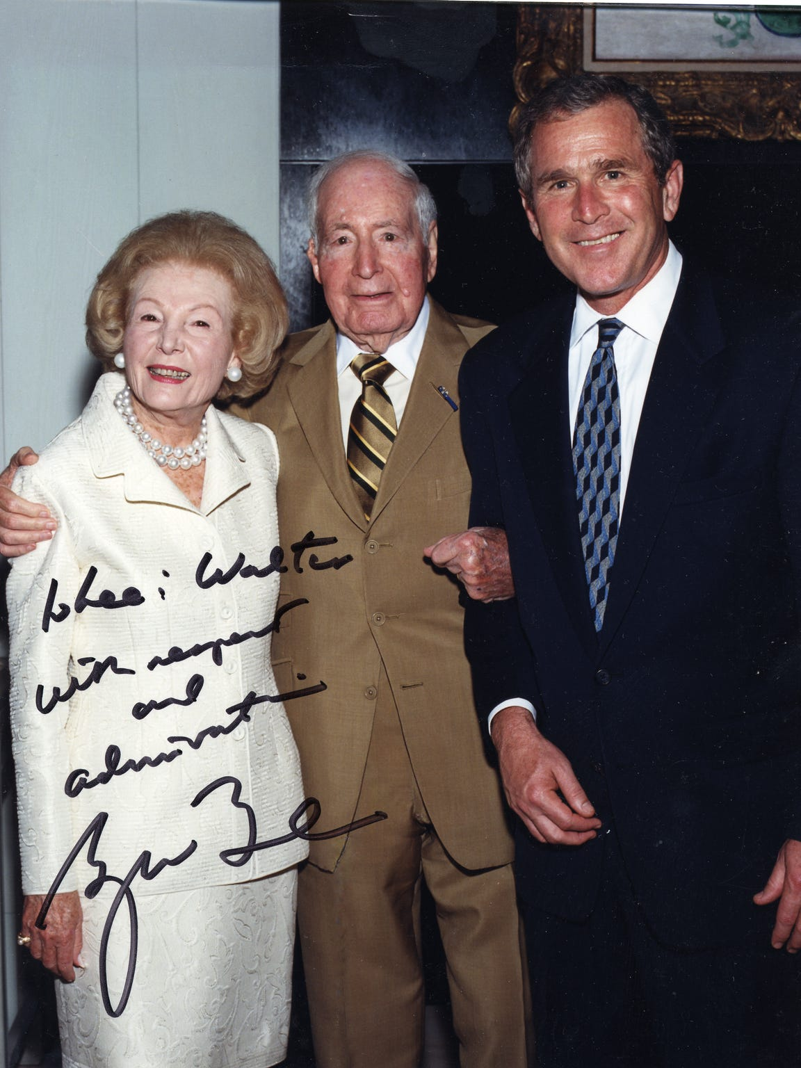 Walter And Leonore Annenberg with President George